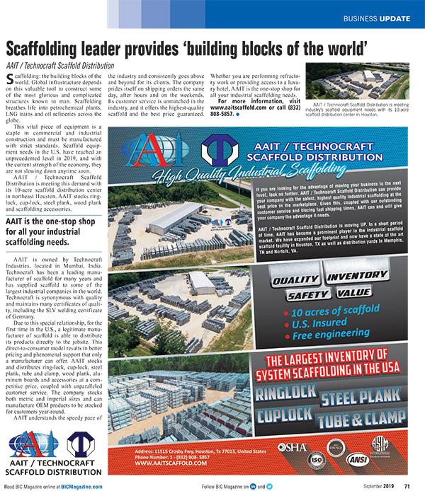 AAIT Technocraft Article in BIC Magazine