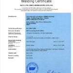 EN 1090 2 Certificate