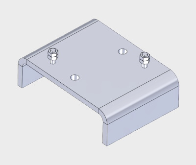 Fixed U Head with Stud & Nut Assembly