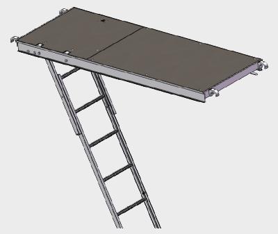 Aluminium Wooden Plank with Ladder